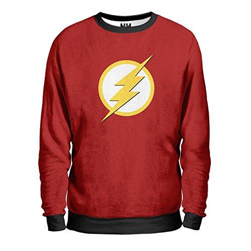 FLASH DC Comics Sweatshirt Man - Felpa Uomo - Comics, T-Shirt Serie TV Fumetti Film Supereroi Universo DC