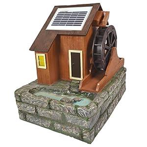 brunnen solar teichpumpe springbrunnen gartenbrunnen wasserm hle mit solarteichpumpe die das. Black Bedroom Furniture Sets. Home Design Ideas