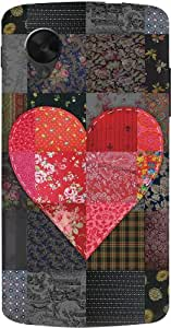 DailyObjects Heart Patch Case For LG Google Nexus 5 (Back Cover)