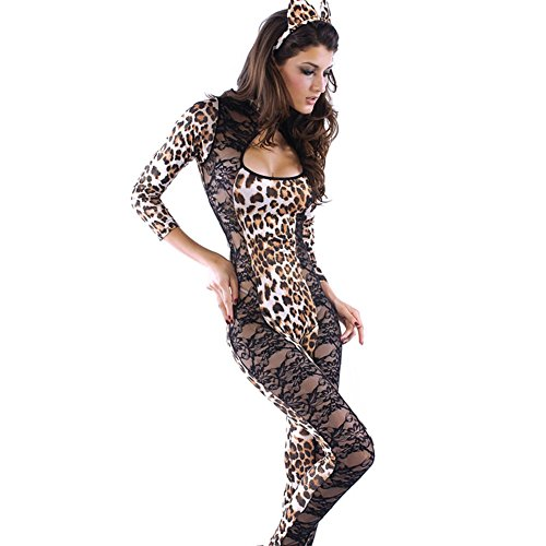 Dear-lover Halloween Womens Sexy Lion Lace Piece Fitted Cat Costumes