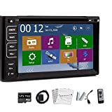 In Dash Navigation GPS MAP Sat 6.2 inch Car Radio Bluetooth Car Stereo DVD CD Player 2 Din In Car Stereo Audio Video
