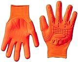 Mad Grip F100 Thunderdome Impact Gloves, Medium, High Vis Orange