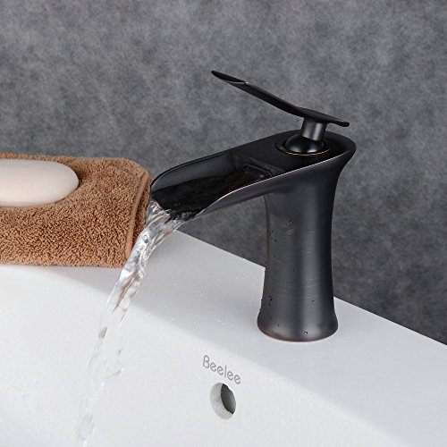 beelee-bl9009b-antique-single-handle-waterfall-spout-bathroom-sink-faucet-oil-rubbed-bronze-finish