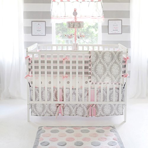 My Baby Sam Olivia Rose Bumper, Pink/Gray