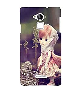 Fuson Premium Back Case Cover Stylish girl With Multi Background Degined For Coolpad Note 3