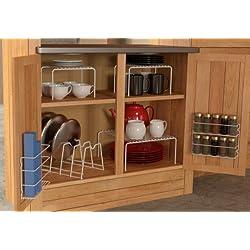 Grayline 457101, 6 Piece Cabinet organizer Set, White