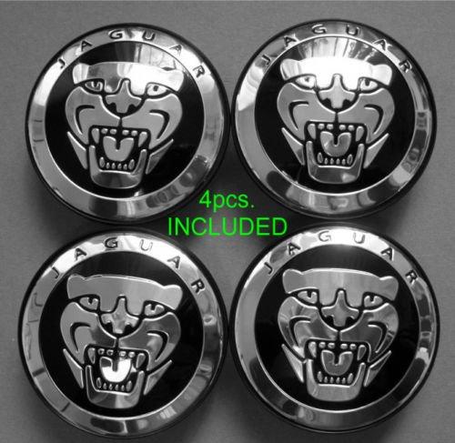 4 New Jaguar S Type X Type XJ8 XK8 XKR Wheel Center Cap Black (Jaguar X Type Accessories compare prices)
