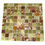 4x4 Sample of Green Onyx 1x1 Polished...