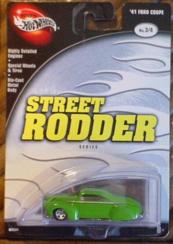 Hot Wheels 100% '41 Ford Coupe 3/4 Street Rodder Green