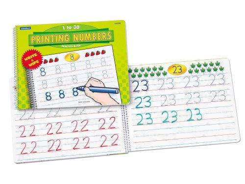 Printing Numbers Practice Book - 1