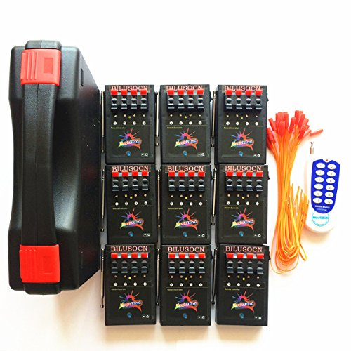 BILUSOCN 36 Cue Wireless Fireworks firing system wedding stage Wireless Remote & 72 FREE Igniters (Electronic Firing System compare prices)