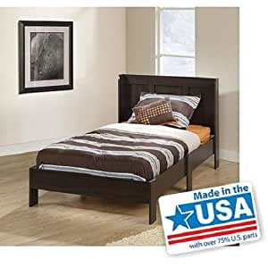 Modern twin platform bed frame with headboard for Bedroom furniture amazon