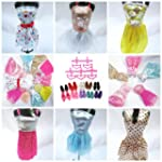 15 Pieces of Barbie Doll Dresses Clot...