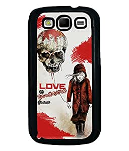 Fuson Love Skull Back Case Cover for SAMSUNG GALAXY S3 - D3739