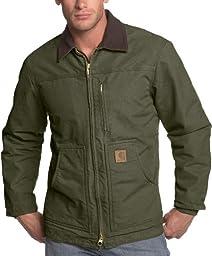 Carhartt Men\'s Ridge Coat Sherpa Lined Sandstone,Army Green,XXXX-Large Tall