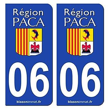 2 stickers de plaque plaque d 39 immatriculation auto 06 paca paca logotype m239. Black Bedroom Furniture Sets. Home Design Ideas