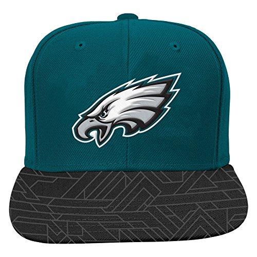 nfl-philadelphia-eagles-boys-8-20-flat-visor-snap-back-one-size-jade