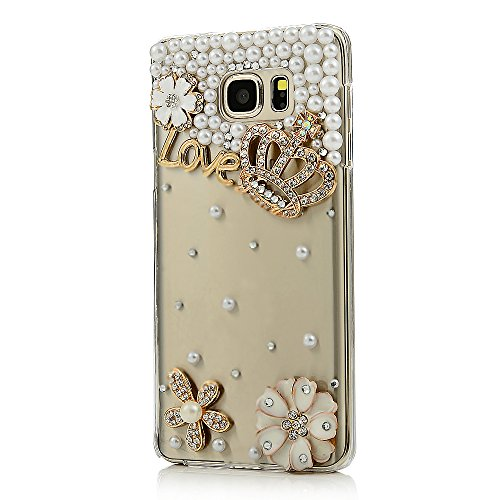 For Mobile Phone Sparkly Crystals Rhinestones Bling Lovely Crown Hard Cover Case