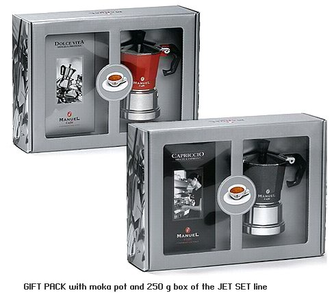 Stovetop Coffee Maker Gift : Gift Set of Moka Maker - Stovetop - with Coffee Italian Caffe
