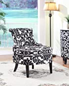 Diana Swoop Back, Cap Arm Accent Chair ive scalloped front.,Two-Doors conceal ample storage space.