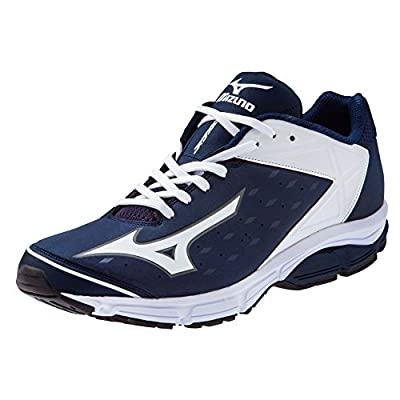 Mizuno Men's Wave Swagger 2 Trainer Baseball Shoe - Navy & White