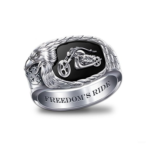 Freedom's Ride Men's Motorcycle Ring by The Bradford Exchange