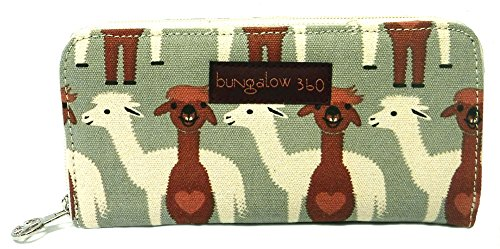 Alpaca Canvas Large Zip-Around Wallet