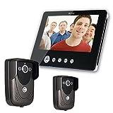 SY905FC21 Video Door Phone Doorbell Intercom Kit 900TVL IR Night Vision 2-Camera 9 Inch TFT LCD 1-Monitor