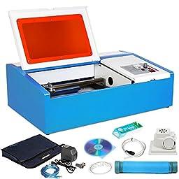 Mophorn Laser Engraving Machine 40W CO2 Laser Engraver 300 x 200mm Laser Cutting Machine with Exhaust Fan USB Port (40W 200X300mm)