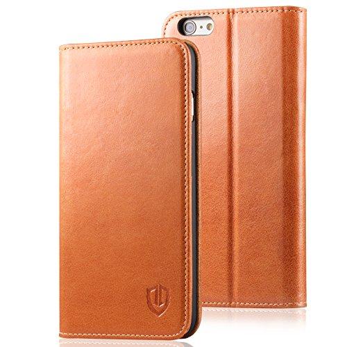 iPhone6s ケース / iPhone6 手帳型 ケース SHIELDON 本革レザー カバー カードホルダー スタンド機能 レトロブラウン