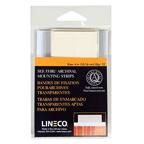lineco-see-thru-mounting-strips-4in-pkg-12