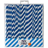 Talking Tables Party Paper Straws, Pack of 30, Blue