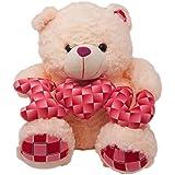 FunZoo Oscar I Love You Teddy Bear - Soft Toy, Cream (40 CM)