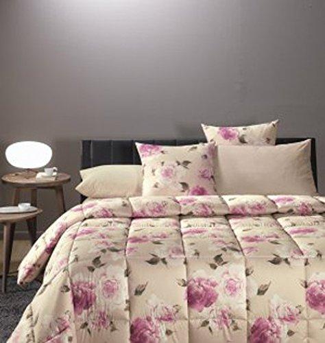 CALEFFI TRAPUNTA letto matrimoniale cm 260x265 Roseto rosa