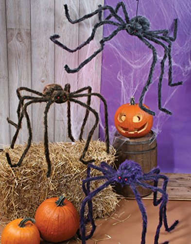 "Fun World 90"" Hairy Spider (Colors May Vary)"