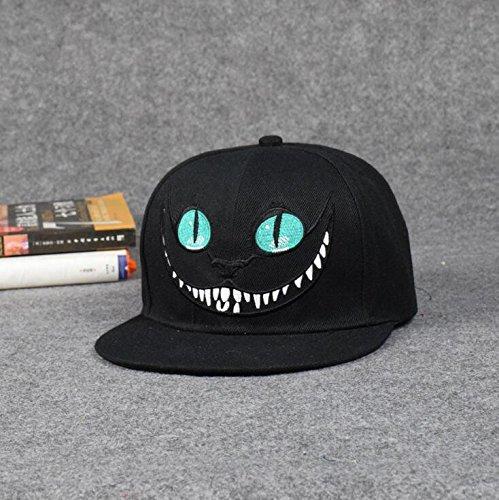 Lsinyan Unisex Alice in Wonderland Cheshire Cat Cartoon Adjustable Baseball Cap (black) (Cheshire Cat Cap compare prices)