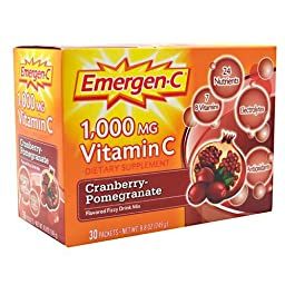 Emergen-C Health and Energy Booster - Cranberry-Pomegranate, 30 Packets (3 Pack)