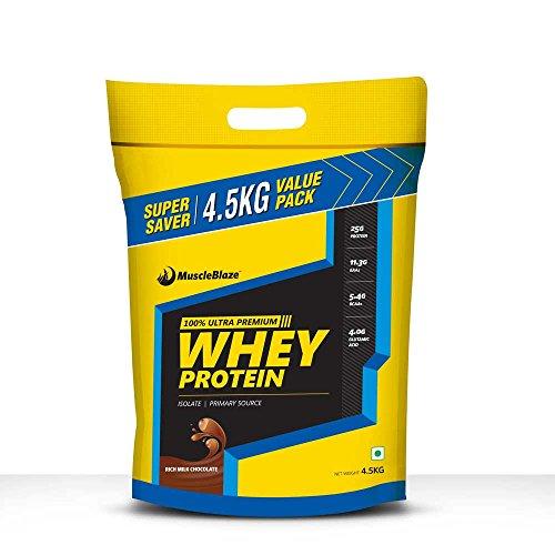MuscleBlaze Whey Protein, 4.5 kg / 9.9lb Rich Milk Chocolate