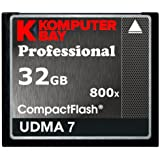 Komputerbay 32GB Professional Compact Flash card 800X CF 120MB/s Extreme Speed UDMA 7 RAW