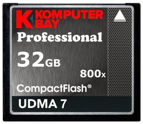 Komputerbay 32GB Professionnel Compact Flash carte 800X CF 120MB/s Vitesse Extrême UDMA 7 RAW