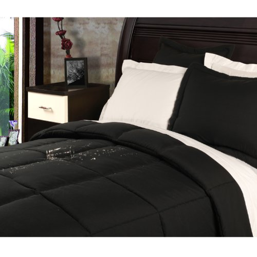 Black Queen Bed Set 9294 front