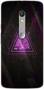 Snoogg Zoyd Dimensions Hard Back Case Cover Shield For Motorola X Play