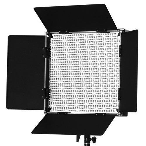 Iled 900 Daylight Led Dimmable Video Light Panel W/ V-Mount Battery Plate And Barndoors