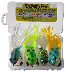 Panther martin pro frog bass fishing lure kit for Bass fishing lure kits