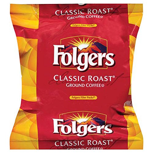 FOLGER'S Classic Roast Coffee Regular Filterpack, 0.9-Ounce Boxes (Pack of 160)
