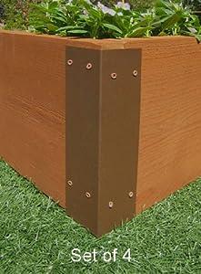 Amazon Com Raised Garden Bed Corner Brackets For 12 Quot H