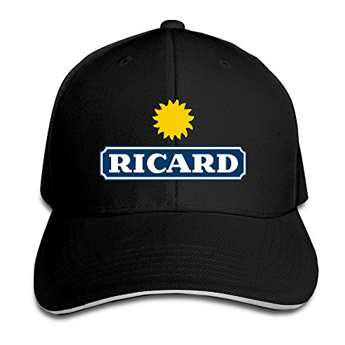 teenmax-unisex-ricard-logo-sandwich-peaked-baseball-cap