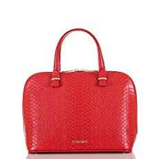 Vivian Dome Satchel<br>Red Santa Clara