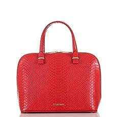 Vivian Dome Satchel<br>Red Santa Clara