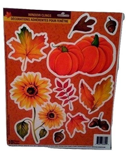 [Autumn Fall Thanksgiving Harvest Pumpkin Leaves Decorations Stickers A] (Homemade Ty Beanie Baby Costumes)